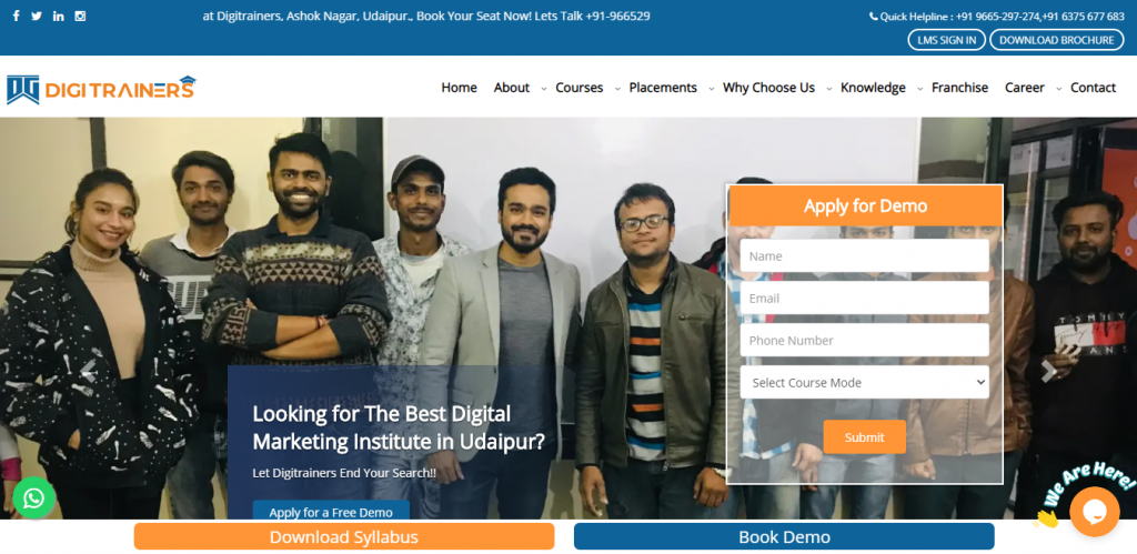 DigiTrainers - Digital Marketing Course in Udaipur